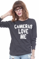 Local Celebrity Cameras Love Me Erin Sweater in Charcoal