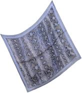 Roberto Cavalli Snakeskin Collage Silk Square Scarf