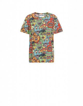 Moschino Monsters Jersey T-shirt Man Multicoloured Size 44 It - (34 Us)