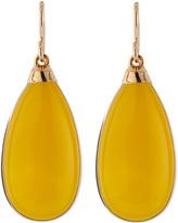 Devon Leigh Yellow Chalcedony Drop Earrings