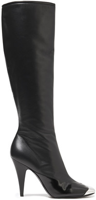 Emilio Pucci Smooth And Glossed-leather Knee Boots