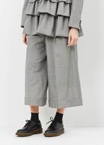 Comme des Garcons houndstooth wide leg trouser