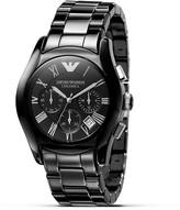 Emporio Armani Oversized Round Chronograph Watch, 42mm