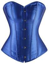 Zhitunemi Women's Satin Bustier Waist Training Corset Cincher Overbust Plus size Large