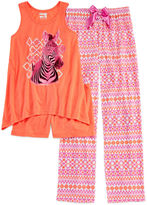Asstd National Brand Sleep On It 3-pc. Zebra Pajama Set - Girls 4-16