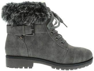 Lamo Casual boots Grey - Gray Buckle-Accent Faux Fur Boot - Kids