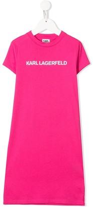 Karl Lagerfeld Paris logo print T-shirt dress