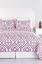Trina Turk Ventura Ikat Full Quilt - Purple/White