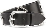 Isabel Marant Faithful Embellished Leather Belt - Black