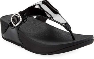 FitFlop The Skinny Patent Leather Thong Sandals