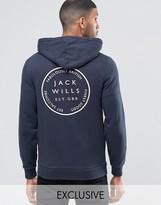 Jack Wills Hoodie With Back Print In Navy Exclusive