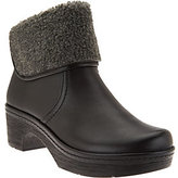 Clarks As Is Leather Clog Boots with Faux Shearling - Preslet Pierce