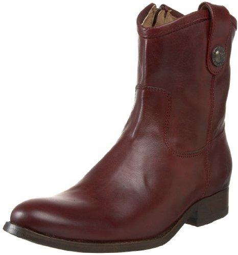 Frye Women's Melissa Button Short Ankle Boot,Bordeaux Soft Vintage Leather,11 M US