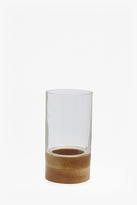 French Connection Round Hurricane Candle Holder