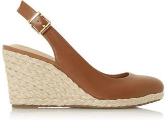 Dune London Codi Slingback High Espadrille Wedge Shoes