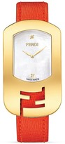 Fendi Medium Yellow Gold Tone and Mother of Pearl Chameleon Watch, 29mm
