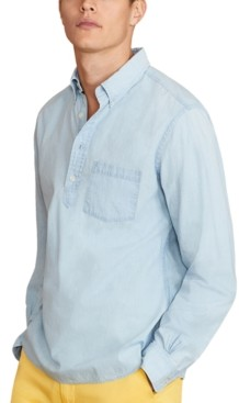 Brooks Brothers Men's Cotton Chambray Popover Shirt, Created for Macy's