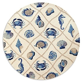 Kas Harbor Seaside Round Area Rug, 7'6 x 7'6