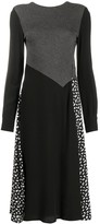 McQ panelled knitted midi dress