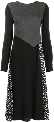 Mcq Swallow Panelled Knitted Midi Dress