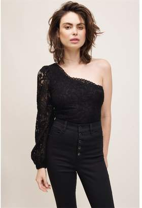 Dynamite One Shoulder Blouse - FINAL SALE Jet Black
