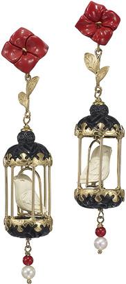 OF RARE ORIGIN Aviary Classic Coral & Onyx Drop Earrings