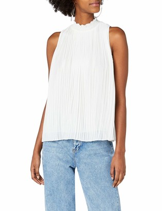 New Look Women's High Neck Pleated Shell Short Sleeve Top