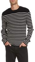 Vince Men's Slim Fit Breton Stripe Cashmere Crewneck Sweater