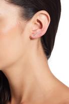 Shashi Pave CZ Swirl Climber Earrings