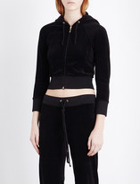 Juicy Couture Cropped velour hoody