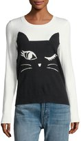 Neiman Marcus Cat Intarsia Sweater