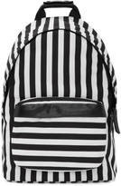 Ami Alexandre Mattiussi Black and White Striped Backpack