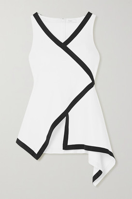 Rosetta Getty Wrap-effect Stretch-jersey Top - White