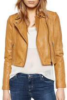 Liebeskind Cropped Moto Faux Leather Jacket