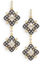 Freida Rothman Two-Tone Etoile Drop Earrings