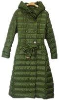 Allonly Women Long Light Slim Beyond Knee Hooded Down Jacket Coat