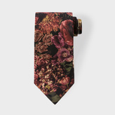 Paul Smith Men's Autumnal Floral Still Life Photoprint Silk Tie