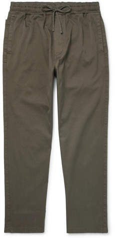 YMC Alva Stretch-Cotton Twill Drawstring Trousers - Men - Green