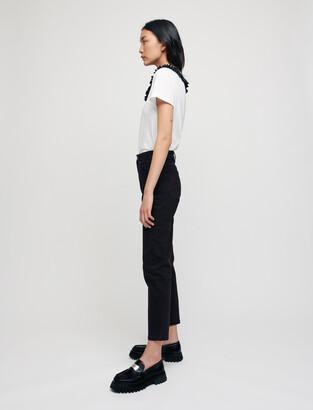 Maje Mom-style high-waisted straight jeans
