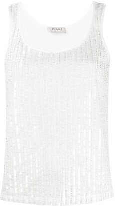 Twin-Set sequin-embroidered vest