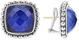 Lagos Sterling Silver Maya Lapis Doublet Square Earrings