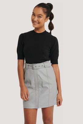 Dilara X NA-KD Belted PU Skirt