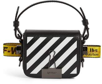 Off-White Off White Mini Leather Baby Flap Cross-Body Bag