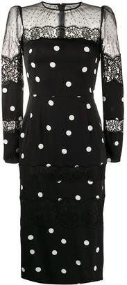 Dolce & Gabbana polka-dot fitted dress