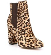 Sam Edelman Case Leopard Print Brahma Hair Booties