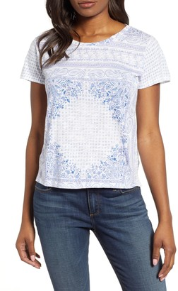 Lucky Brand Scarf Print T-Shirt