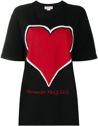 Alexander McQueen heart logo loose T-shirt