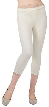 Me Moi Cotton-Blend Chino Capri Leggings