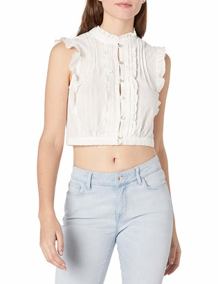 Plenty by Tracy Reese Women's Cropped Victorian Top