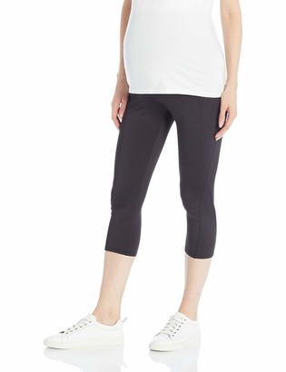 Motherhood Maternity Women's Maternity Performance Active Secret Fit Belly Cropped Leggings